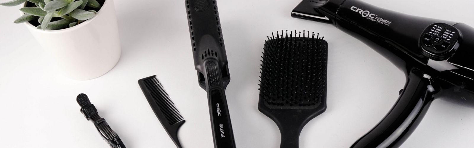hair dryer and hair brushes