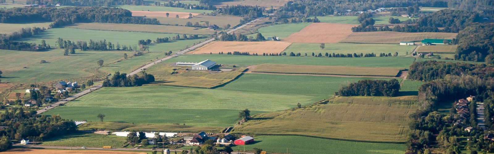 aerial photo of fields