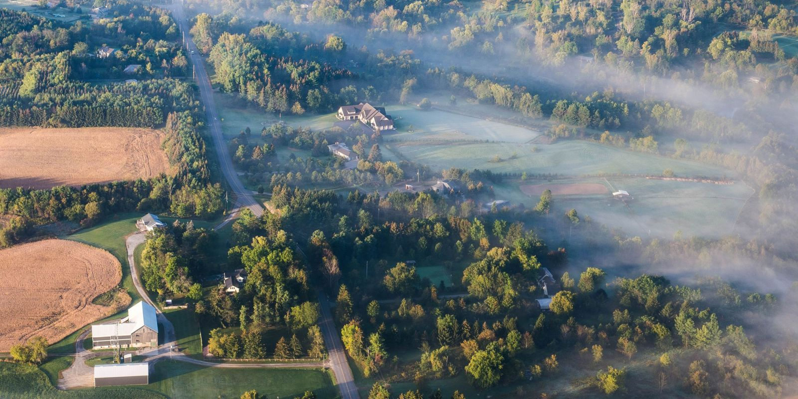 Aerial shot of Dufferin County