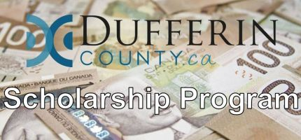 Money with Dufferin County Logo
