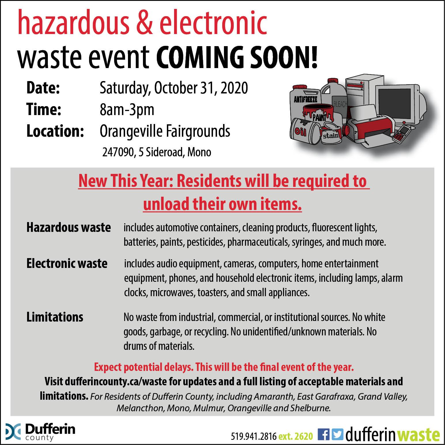 Hazardous Waste Day Poster