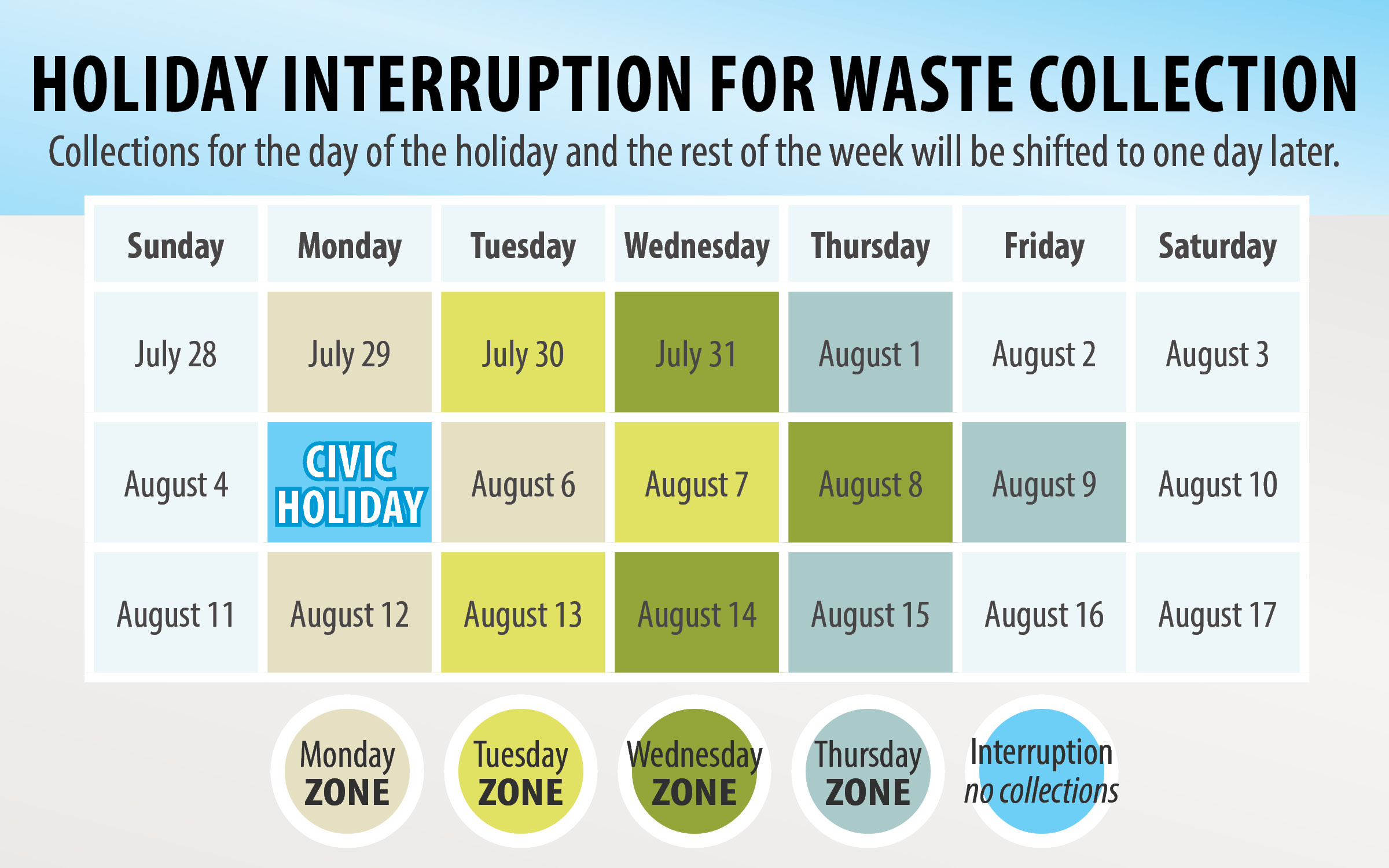 Waste collection calendar